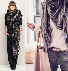 Inspiração: 5 maneiras de usar cachecol no inverno