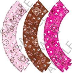 Cowgirl Cupcake wrap printables