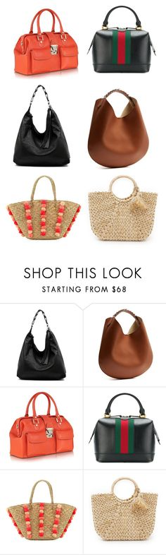"""""""Шопер 4"""" by olgaut on Polyvore featuring мода, Givenchy, L.A.P.A., Gucci, Seafolly и Hat Attack"""