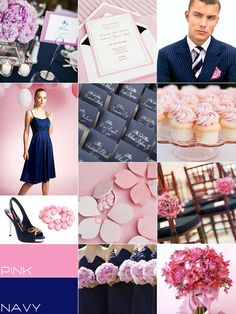 Navy blue and Pink Wedding colours palette, navy blue pink summer wedding ideas | itakeyou.co.uk