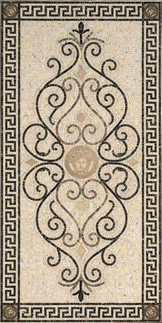 Плитка GARDENIA ORCHIDEA & VERSACE EXCLUSIVE ROSONE MOS.WHITE-BLAC 78,9X158 : купить в Москве по отличной цене в магазине кафельной плитки и керамогранита