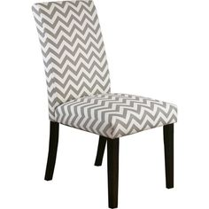 Meijer / Product View / Carson Set of 2 Upholstered Dining Chairs - Gray and White Chevron / 272069