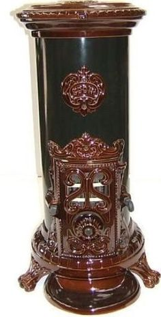 NEW 5 kw Godin 3720 Antique Style Cast Iron Wood Coal Multifuel Stove Brown Antique Wood Stove, How To Antique Wood, Stove Paint, Coal Stove, Multi Fuel Stove, Cast Iron Stove, Vintage Stoves, Vintage Appliances, Stove Fireplace