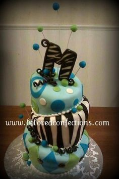 Wild n Whimsical Birthday Cake By belovedcakes on CakeCentral.com