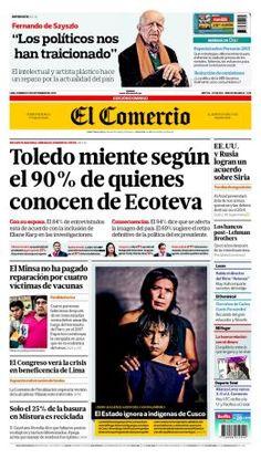 """¡Buenos días! Hoy en #NuestraPortada: """"#Toledo llega al Perú y alista su defensa con sus partidarios"""". Mira la edición impresa ► http://elcomercio.quioscodigital.pe/"""