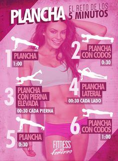 Tómate 5 minutos para darle un chute de energía a tu metabolismo #Fitness #ejercicio #plancha