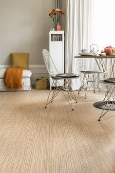 A smart alternative to wooden flooring as we know it, Bolivia is the perfect dining room partner. www.leoline.co.uk