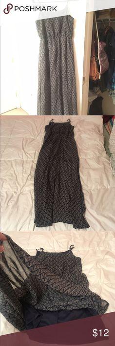 Pastel geometric maxi dress