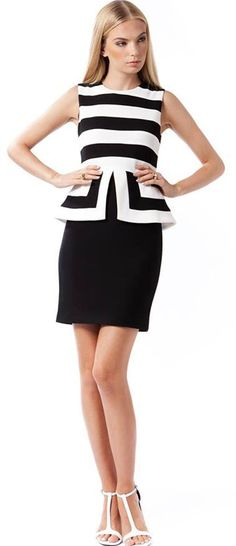 Elliatt - Empire Black And White Dress