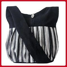 Handmade Crossbody Shoulder bags messenger travel Tote Handbags for women girl (BLACK) - Crossbody bags (*Amazon Partner-Link)