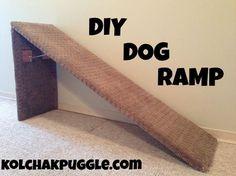 DIY DOG RAMP ....FOR SPECIAL NEED DOGS http://kolchakpuggle.com/2014/02/diy-dog-ramp.html
