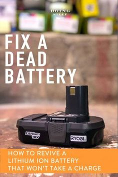Have a rechargeable tool battery that stopped working? It happens all the time. You put it in the charger and it just won't take a charge. Guess what? YOU CAN FIX THAT BATTERY IN ABOUT 5 MINUTES!