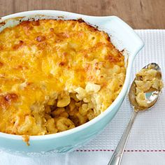 this is my new favorite EASY homemade mac'n'cheese...I recommend 12 oz. of shredded cheese (I love 8 oz. NY sharp cheddar and 4 oz. pepper jack)...adding small cuts of steamed broccoli before baking is great too!