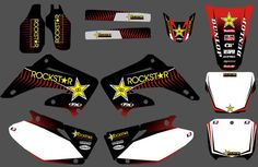 GRAPHICS & BACKGROUNDS DECALS STICKERS Kits for Honda CR125 CR250 2002 2003 2004 2005 06 07 08 09 10 11 2012 CR 125 250 #Affiliate