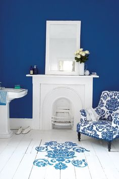 Blue & White - Wall Paint - Wall & Feature Wall Paint Colour Ideas (EasyLiving.co.uk)