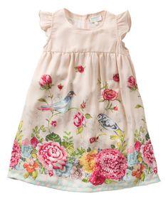 Another great find on #zulily! Light Pink Floral Donkey Dress - Girls #zulilyfinds
