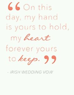Read lots of vow examples for inspiration.