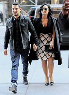 Demi Lovato and Wilmer Valderrama arriving at the Good Morning America studios in New York City on October 26th