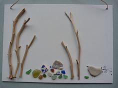 """ L'oiseau jardinier"" création Anne Guilmet"