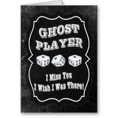 Bunco Ghost Player Stand Up Card.  Perfect for displaying on the table when you have a Ghost Player.