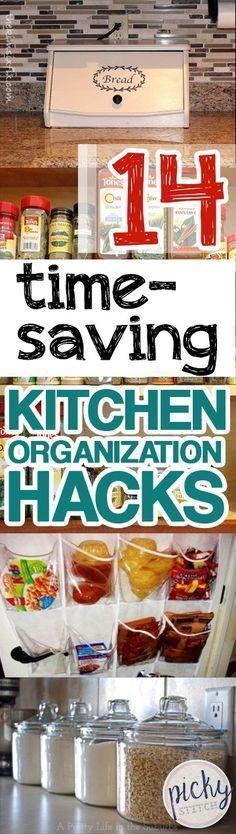 Kitchen Organization, Kitchen Organization Tips and Tricks, Easy Ways to Organize Your Kitchen, Kitchen Storage Hacks, Storage Ideas, Home Organization, Clutter Free Kitchen, Pantry Organization Ideas, Pantry Organization Hacks, Popular Pin. #clutterfreehome