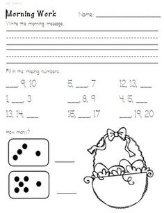 This is part 2 of my kindergarten morning work.Need morning work for your students that is consistent, covers a variety of subject areas, build...