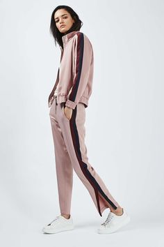 Stripe Detail Track Top and Jogger - Suits & Co-ords - Clothing - Topshop USA