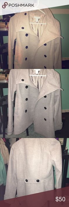 light grey pea coat Brand new with tags. Size 6 Jackets & Coats Pea Coats