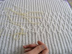 Technique   Smocking on a Brioche Rib Knit tutorial - not quite sure I will ever need this but...you never know!