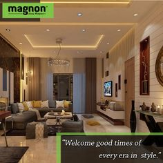 We believe our living room designs resonate with the good times of every era. Top Interior Designers, Home Interior Design, Architect Design, Best Interior, Living Area, Good Times, Living Room Designs, Mansions, House Styles