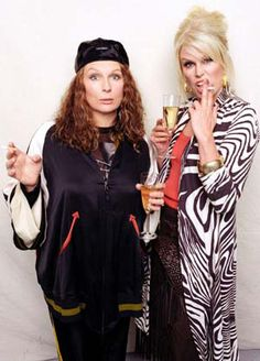 "LOVE this show! Jennifer Saunders & Joanna Lumley in ""Absolutely Fabulous"".Patsy & Edina Plus Jennifer Saunders, Ab Fab Movie, Movie Tv, Patsy And Edina, Ted, Joanna Lumley, British Comedy, British Humor, Absolutely Fabulous"