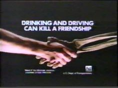 Early anti-drinking and driving ads