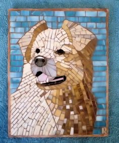 Dog Jazz pet portrait Border Collie Mosaic by LachanceGlassMosaic Mosaic Crafts, Mosaic Art, Mosaic Glass, Stained Glass, Glass Art, Mosaic Animals, Deco Originale, Jazz, Pictures To Paint
