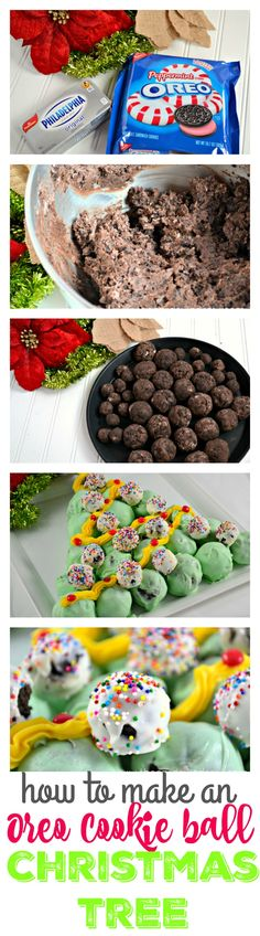 How to make an Oreo Cookie Ball Christmas Tree...fun and delicious holiday dessert idea