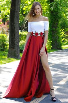 vestidos largos que se ven los zapatos