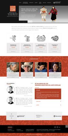 """Diseño e implementación - Sitio """"Amigos de los Grandes Maestros"""" (Fomento Cultural Banamex)"""