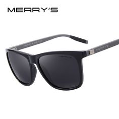 44fe5cdd476 MERRY S Unisex Retro Aluminum Sunglasses Polarized Lens Vintage Sun Glasses  For Men Women S 8286