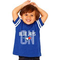 Toronto Blue Jays Toddler/Preschool Layered Logo Vintage Sleeve Stripe T-Shirt