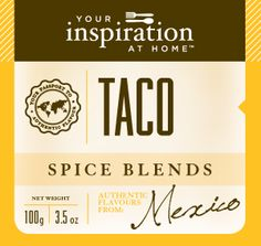 Slightly smoky, earthy blend is perfect for chicken, fish and beef tacos http://www.alybrown.yourinspirationathome.com.au/shop-spice-blends.php