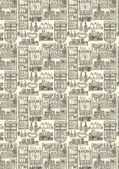 Wrapping paper: Carturesti - Autumn pantry on Behance