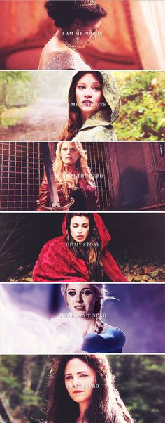 I am my poison and my antidote. I am the hero of my story and I don't need to be saved. #ouat