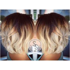 Short hair ombré blonde ombré                              …