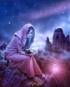 The intellectual journey you take today, stimulates the hopes and dreams of tomorrow -Jasmeine Moonsong ~ Artwork by Mystery Kids on deviantART Anime Art Fantasy, Fantasy World, Story Inspiration, Character Inspiration, Wiccan, Magick, Sculpture Textile, Mystery, Illustration