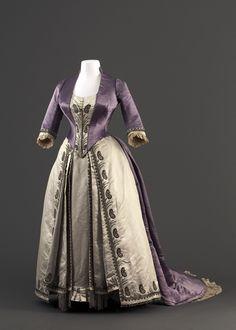 Dress, House of Worth, 1885-90.