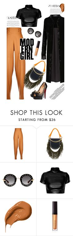 """""""Shimmy Shimmy: Fringe"""" by dianefantasy ❤ liked on Polyvore featuring Marco de Vincenzo, Sacai, Gucci, Bobbi Brown Cosmetics, Laura Mercier, fringe, polyvorecommunity and polyvoreeditorial"""