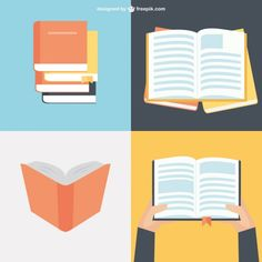 Book Collection in Flat Design Free Vector