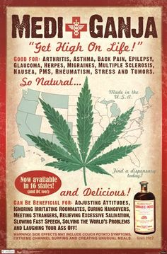 Medical Marijuana Vintage Poster | Repined By 5280mosli.com | Organic Cannabis College | Top Shelf Marijuana | High Quality Shatter