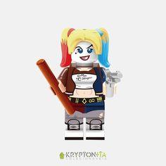 Miniatura Arlequina (esquadrão Suicida)- Compatível Com Lego