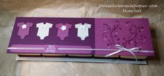 Coffret naissance Mini Albums, Stampin Up, Scrapbooking, Baby Kit, Baby Cards, Toy Chest, Card Making, Baby Shower, Alice