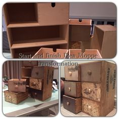 Moppe IKEA chest I transformed with old hardware, flat black paint and stain